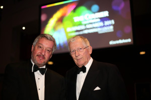 Kris Miller, Courier, 27/11/15. Courier Business Awards. Nick Hewer and Gary Robinson.